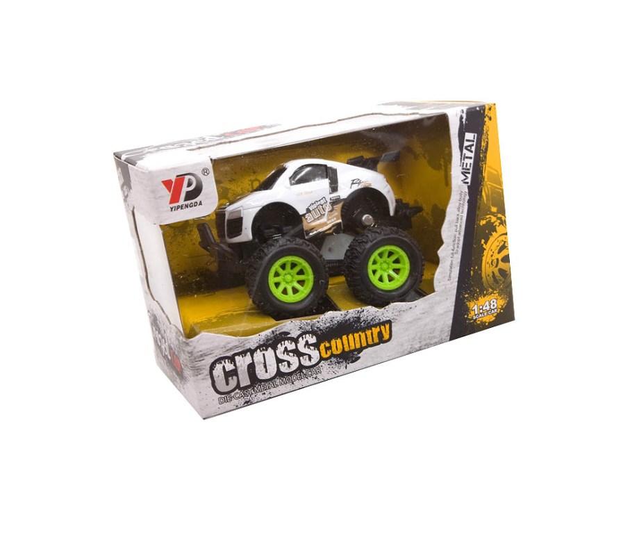 Auto na Frikciju Cross Country Model, sa velikim gumama, uzdignutom karoserijom i dijelovima od metala razveseliti će svako dijete koje voli utrke.