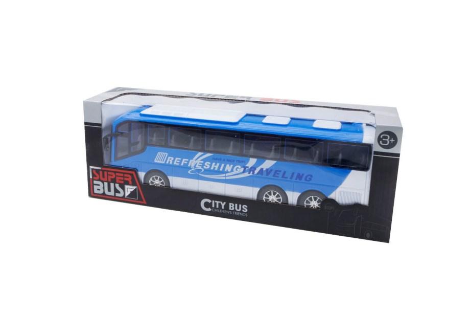 autobus vozila city bus plavi prednja box