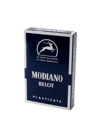 Igraće karte za belot Modiano. Kvalitetne plastificirane karte za belot, 100% made in Italy. Za sve ljubitelje kartaških igara.