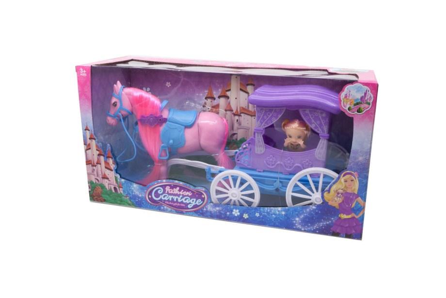 Kočija Purple Carriage+Lutkica, bajkovita igračka sa kojom će vaše dijete ponovo proživjeti sve prekrasne priče o princu, princezi i sretnoj ljubavi.