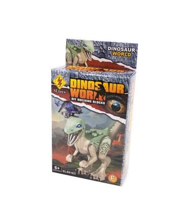 Kocke Dinosaur Mini, Figurice dinosaura, za sastavljanje sa podlogom. Za svu djecu koja vole dinosaure, postoji čak 6 modela za sakupljanje.