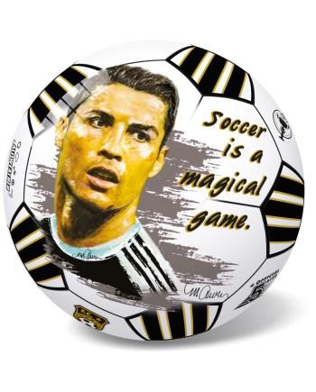 Lopta Pvc Ronaldo 23cm, Ronaldo plastična lopta veličine 23 cm sa motivima jednog od najboljih igrača u povijesti nogometa - Cristiana Ronalda.