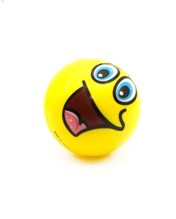 Lopta Mekana Emotic Color 10cm. Mekana spužvena lopta u više boja sa emotikon motivima.