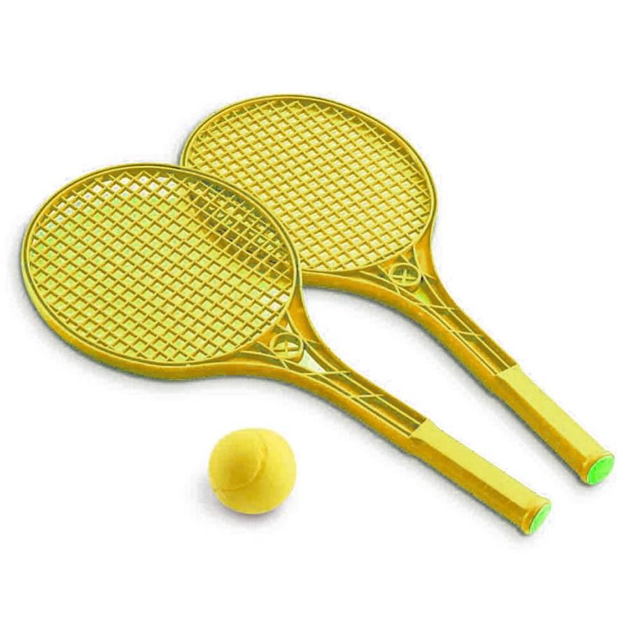 Plastične rekete za tenis umrežici, 2 komada sa spužvenom lopticom. Ove plastične rekete idealne za djecu i rekreativno igranje tenisa.