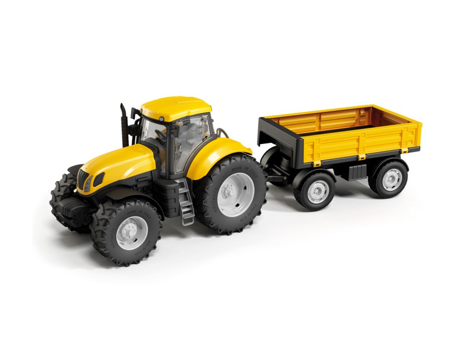 Igračka plastični traktor sa prikolicom 61cm. Ovaj čvrsti i atraktivni traktor dužine 30cm sa gumenim kotačima i prikolicom od 25cm razveseliti će svako dijete.