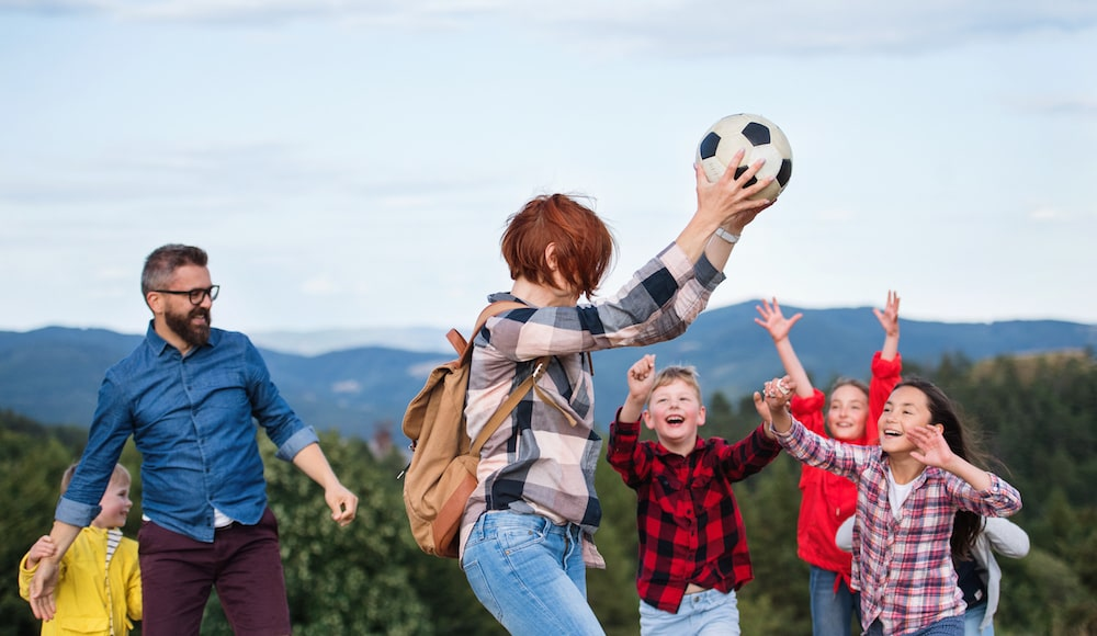 Dječja igra, graničar ideja za aktivnosti vani