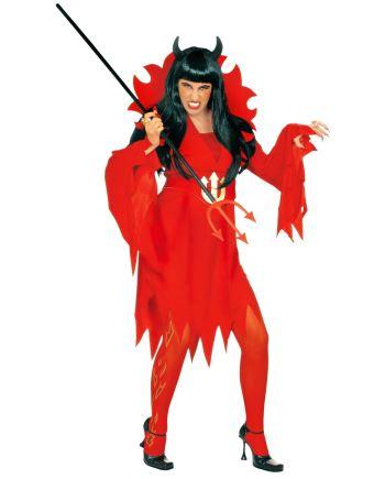 Kostim Vražica, veličina XL je kostim namijenjen odraslima. Savršen je za lude partije, proslave Halloweena ili karnevalske povorke.