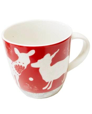 Šalica keramička Sob božićna šalica, 9cm. Proizvod dolazi u 2 različita motiva.