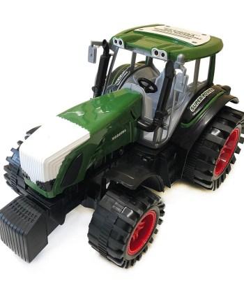 Traktor sa prikolicom i drvima, Traktor Farma veličine 80 centimetara. Pakiran u kutiji dimenzija 81x21x21 centimetara, ovaj traktor savršen je kako za igru u prirodi tako i za igru u kući.