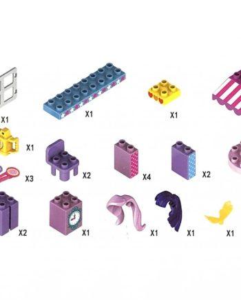 Kućica za Pony u kockicama, sa svjetlom, 52 komada. Ova prekrasan kućica za ponije dolazi u velikom pakiranju veličine 53x9x35 centimetara.