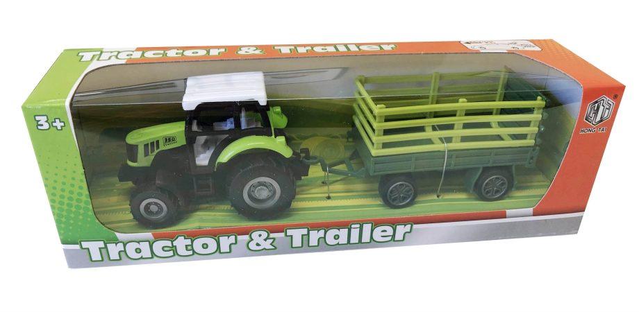 Traktor metalni sa prikolicom, 4 modela. Svaki pravi farmer mora imati traktor i prikolicu za rad na polju.