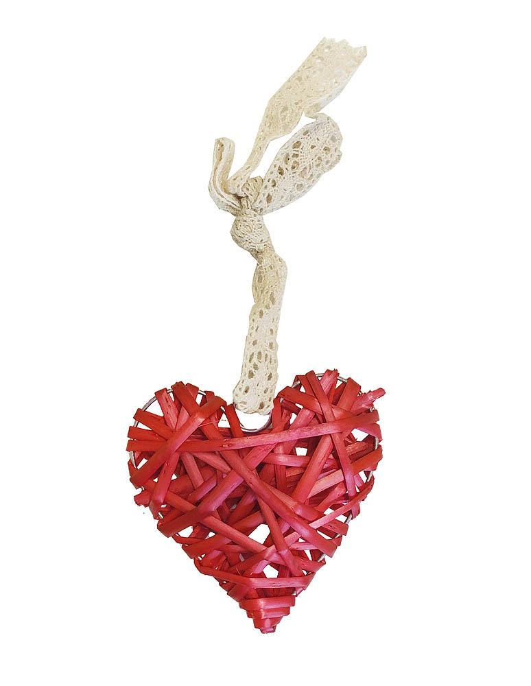 UKRAS Drvo Srce Pleteno, sa mašnicom. Drveni ukras za bor, za objesti na ulazna vrata ili postaviti na stol. Izrađen od drva sa mašnicom u krem boji.