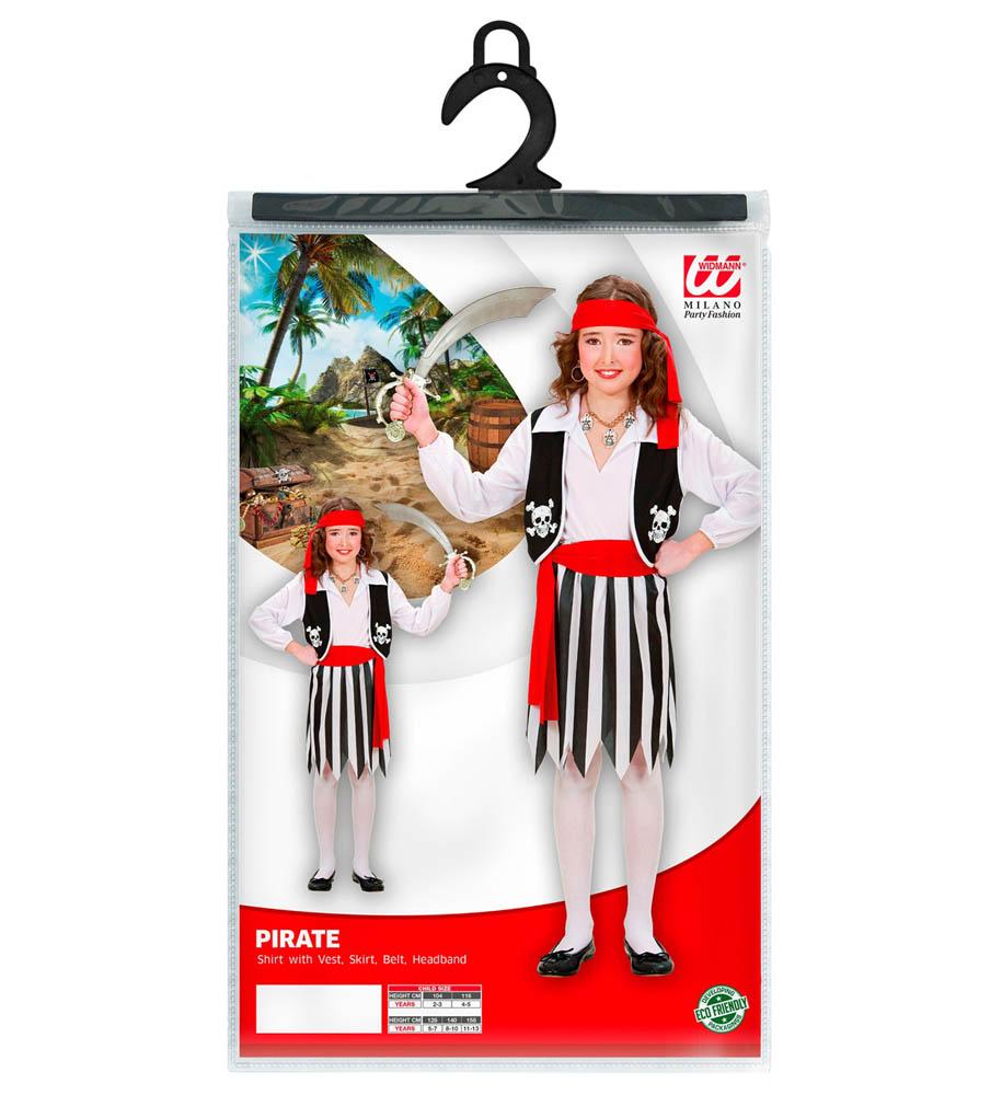 Kostim dječji Gusarica, Gusarski kostim. Kostim je namjenjen djeci između 11-13 godina. Savršen je za lude partije, proslave Halloweena ili karnevalske povorke.