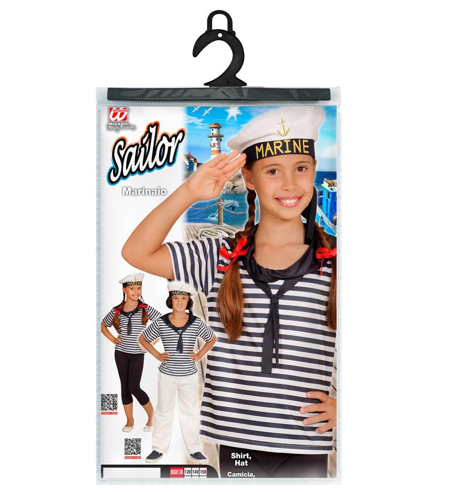 Kostim dječji Mornarica, Kostim mornar. Kostim je namjenjen djeci između 4-5 godina. Savršen je za lude partije, proslave Halloweena ili karnevalske povorke.