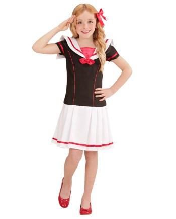 Kostim Mornarica, Sailor Girl kostim. Kostim je namjenjen djeci između 4-5 godina. Savršen je za lude partije, proslave Halloweena ili karnevalske povorke.