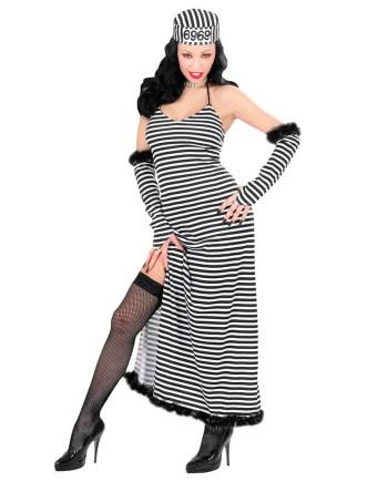 Kostim za odrasle Zatvorenica, Fancy zatvorenica. Savršen je za igru, lude partije ili karnevalske povorke. U pakiranju se nalazi haljina, rukavice, kapa.