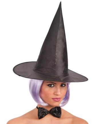 Karnevalski šešir za odrasle Vještica, crne boje. Savršen je za lude partije, proslave Halloweena ili karnevalske povorke.