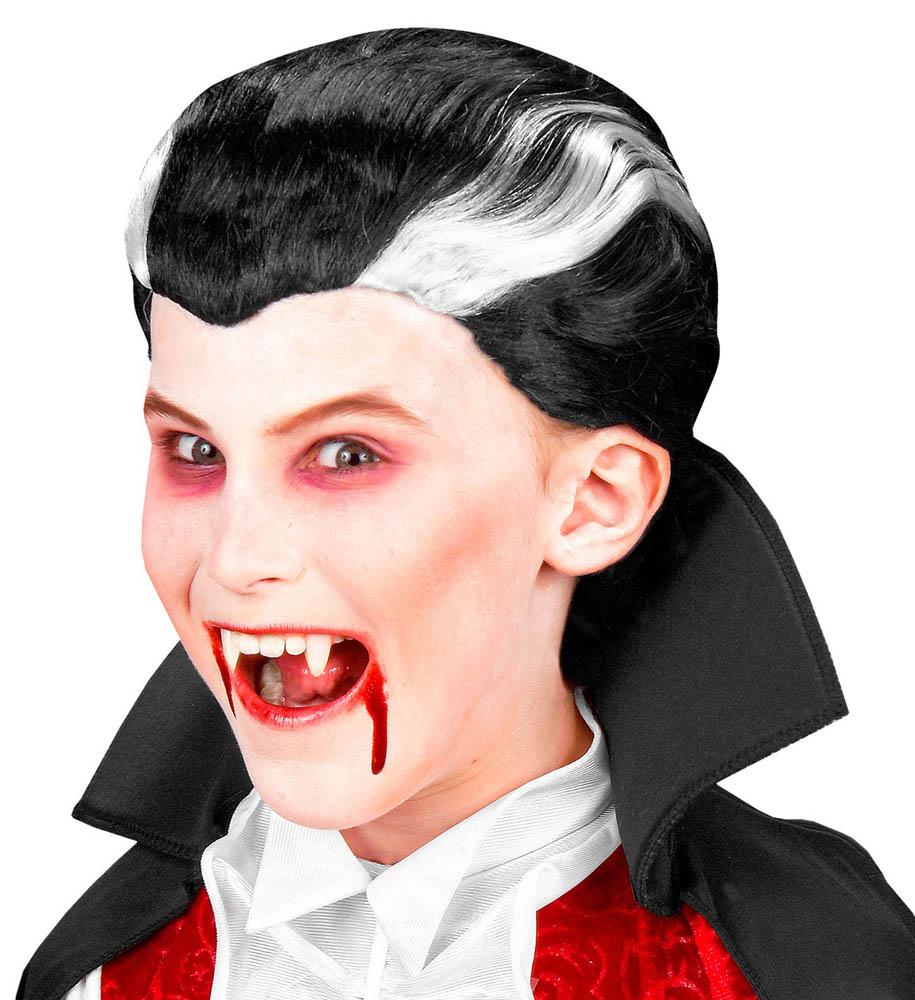 Perika dječja za Vampira, karnevalska perika. Savršena je za maskiranje, lude partije, proslave Halloweena ili karnevalske povorke.