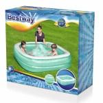 Bazen obiteljski Blue Rectangular 201x150x51 centimetara. Veliki plavi pravokutni obiteljski bazen visoke je kvalitete, namijenjen obiteljskoj zabavi.