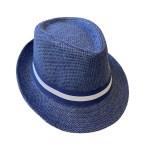 Šešir Alpineto sa trakom na pruge, 2 boje. Prekrasni, lagani ljetni šešir sa trakicom, tipa Alpineto. Izrađen je od papira sa unutarnjom podstavom od poliestera.