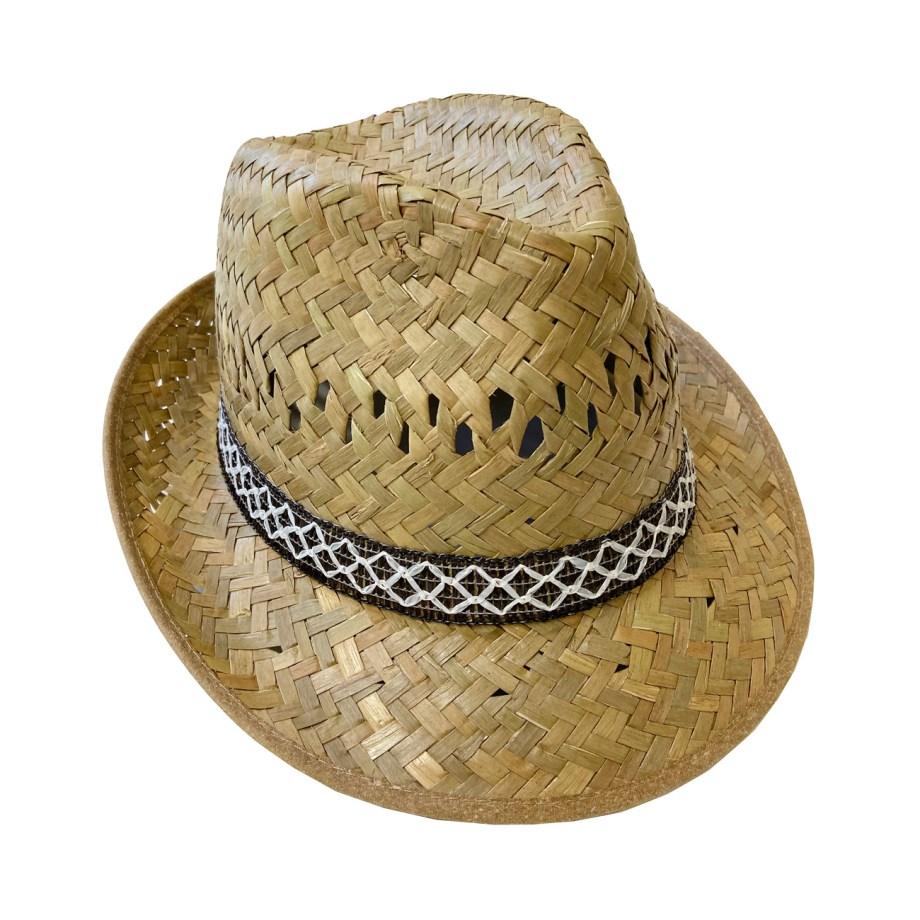Slamnati šešir Alpineto, Alpineto slamnati. Prekrasni, prozračan, lagani ljetni šešir tipa Alpineto. Izrađen je od palmine slame.