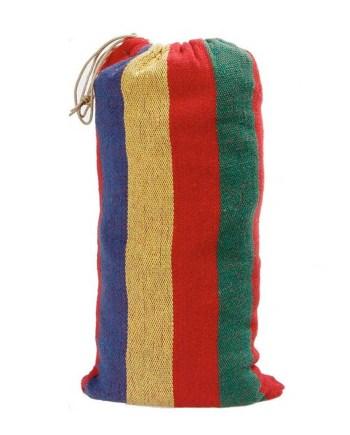 Viseća ležaljka, pamučna, sa torbicom, 2 boje. Ova viseća ležaljka napravljena je od pamuka i namjenjana je za 1 osobu. Savršena je za lješkaranje u ljetnim danima.