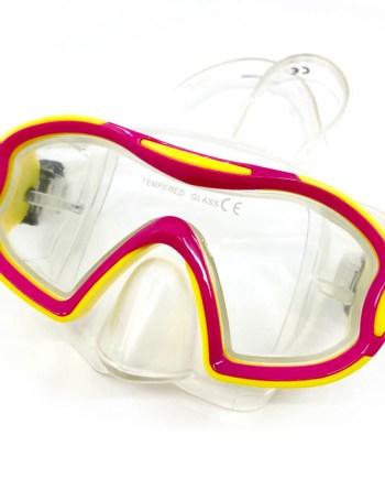 Dječja maska za ronjenje, Turtle 7+ godina. Kvalitena maska od pvc-a, temperirano staklo za ronjenje i promatranje morskog dna.
