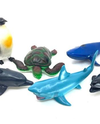 Morske gumene životinje, 6 različitih. Odlična igračka uz pomoć koje Vaše djete može uz igru proširiti i znanje Vašeg mališana.