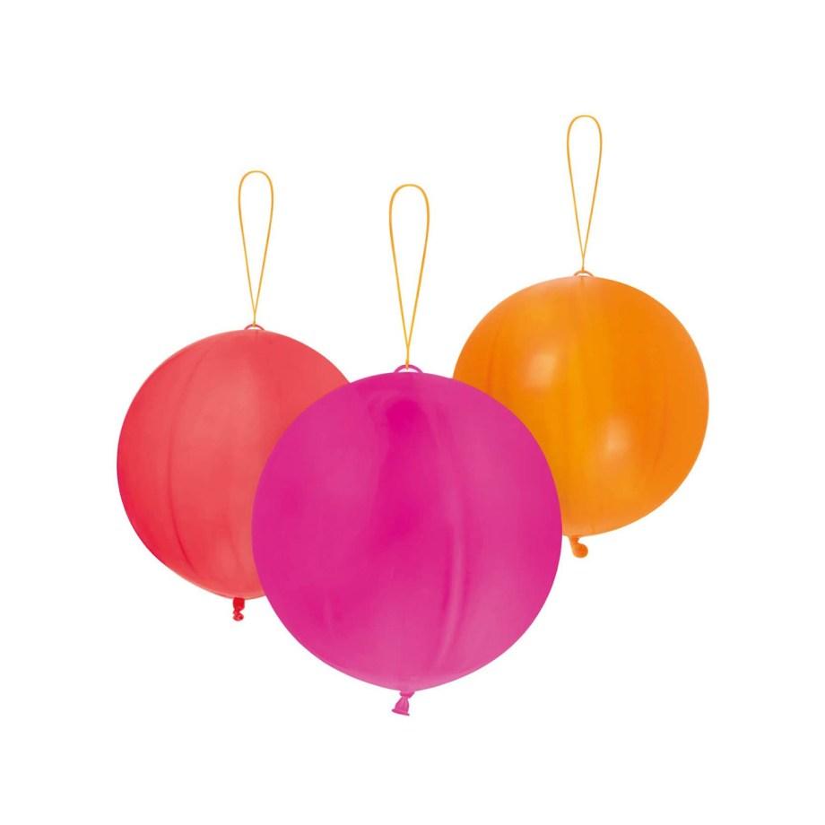 Baloni za udaranje, Punch baloni u boji, 6 komada. U pakiranju se nalazi 6 raznobojnih balona sa gumenom vezicom.