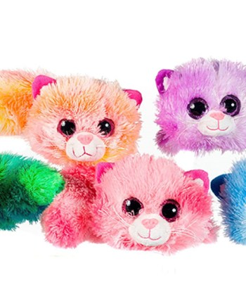 Plišana Mačka raznobojna, Pliš Cookie Cat 50 centimetara. Plišane čupave mačke u 5 različitih boja.