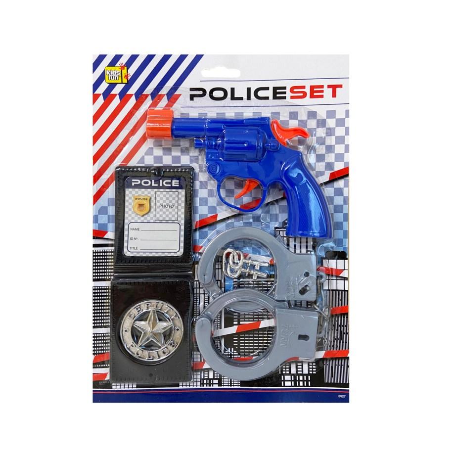 Dječji policijski komplet sa pištoljem i dodacima, 4 komada. U ovom policijskom setu nalazi se sve potrebno za zabavnu igru policajca.