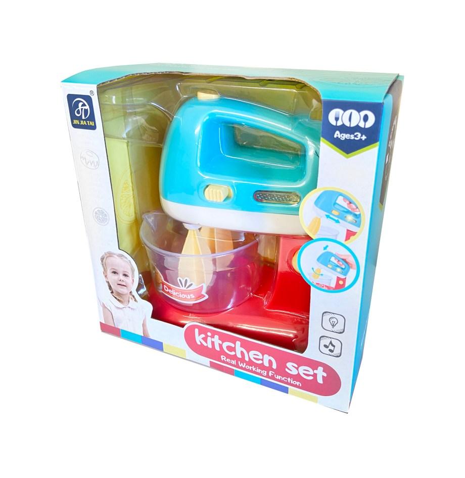 Igračka mikser sa mješalicama i zdjelom na baterije. Prekrasna igračka za male Chefove. Mikser radi sa 2 baterije tipa AA,