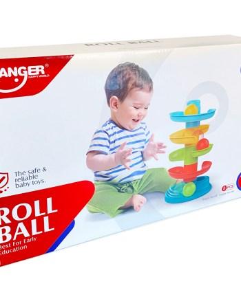 Didaktička igračka za bebe, Roll ball. Ovaa didaktička igračka osigurava smijeh i zabavu za svako malo dijete.
