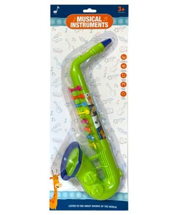 Dječji saksofon, plastični saxofon za djecu, muzički instrument. Za svu djecu koja vole muziku i muzičke instrumente.