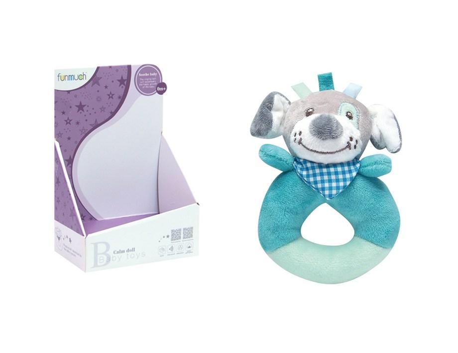 Mekana zvečka za bebe na psa i ježa. Ova vesela zvečka za bebe dolazi u 2 varijante, zvečka na ježa ili psića.