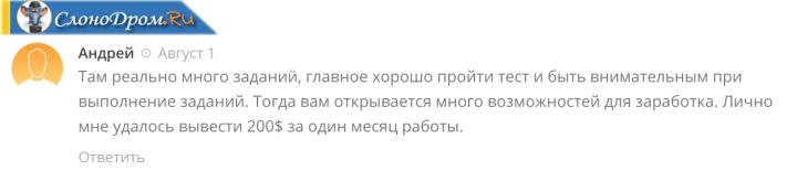 Отзыв о заработке на Яндекс Толока