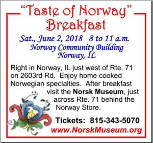 Join us on Saturday, June 2nd for the 2018 opening day at the Norsk Museum.