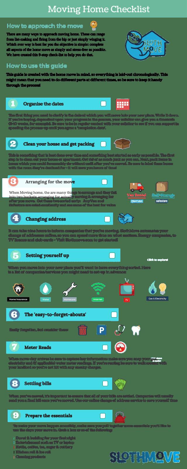 slothmove movinghome checklist