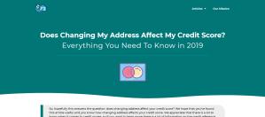 changing address affect credit score