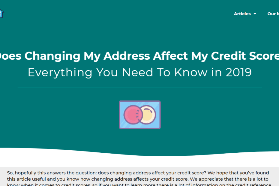 changing address affect credit score