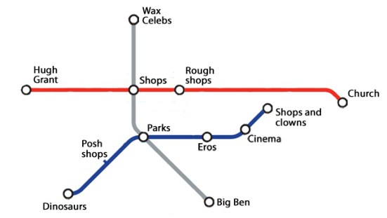 Decluttered tube map