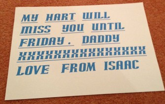 Isaac message for Daddy