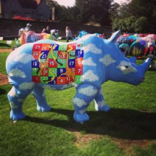 Rhino sculpture Marwell Zoo