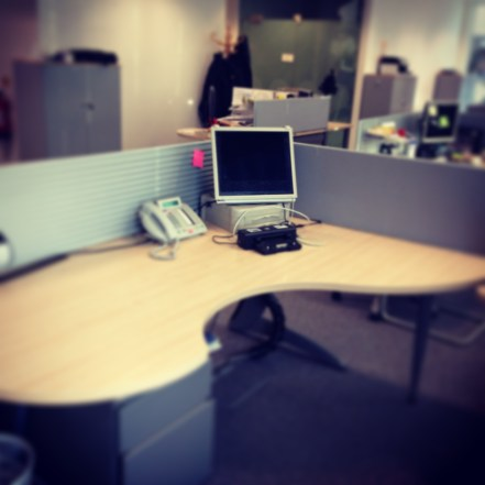Finally I've managed to adhere to the clean desk policy ...