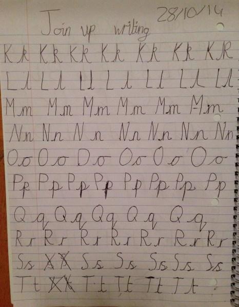 Isaac handwriting 1