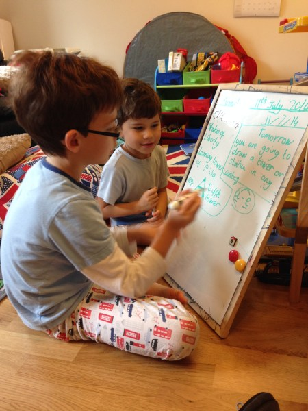 Isaac Toby school whiteboard
