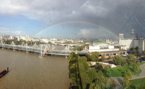 London Eye rainbow