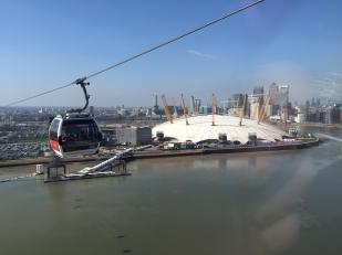The O2 from the Emirates Airline cable car