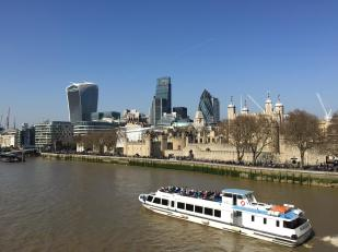 The Walkie Talkie, Cheese Grater and Gherkin from Tower Bridge