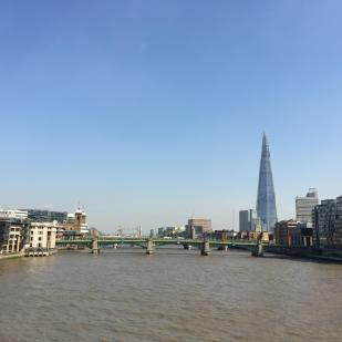 The Shard and Tower Bridge from the Millennium Bridge